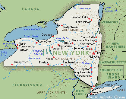 Researching New York Ancestors - New york city on us map