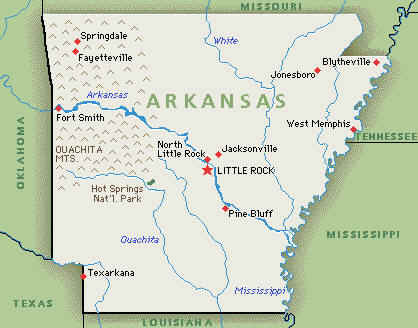 Your Guide To Researching Arkansas Ancestors - Maps of arkansas
