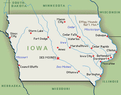 Untitled Document - Cities in iowa map